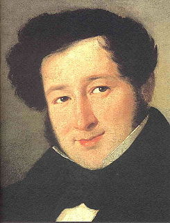 Gioacchino Rossini joven. foto wikipedia