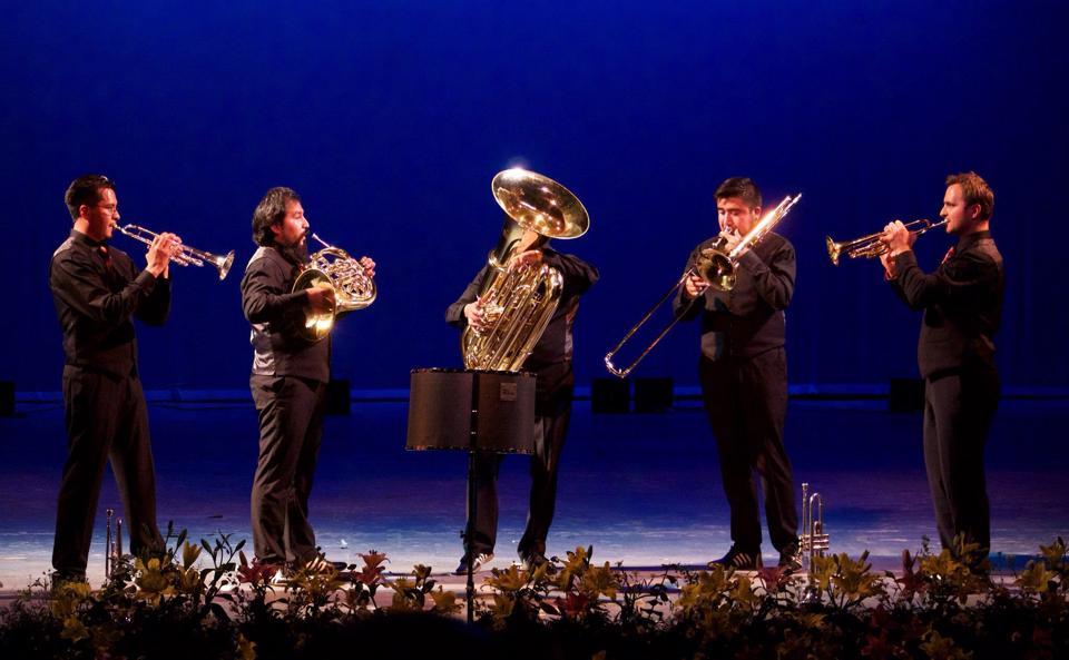 Los Mexican Brass, en plena actuación. foto mb