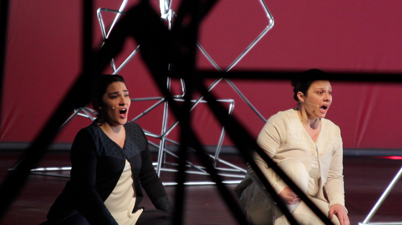 Camila García y Cecilia Barrientos. foto Cristian Parker