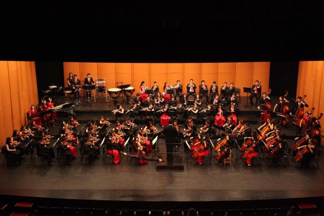Las dos Orquestas, Infantil y Juvenil de Pangupulli, dirigidas por Alexander Sepúlveda